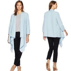 Lucky Brand Knotted & Draped Chambray Cardigan